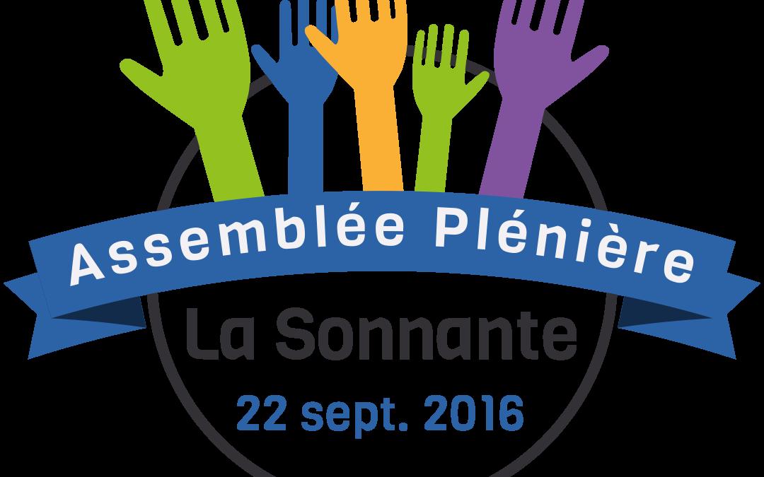 22 Sept. 2016 – Assemblée Plénière