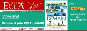 Ciné-Débat : « Demain » avec l'intervention de l'association La Sonnante @ ECLA | Aureilhan | Occitanie | France